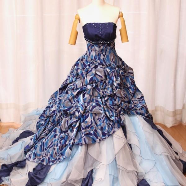 カラードレス ブルー cdb-007