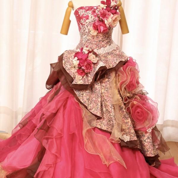 カラードレス ピンク cdp-013