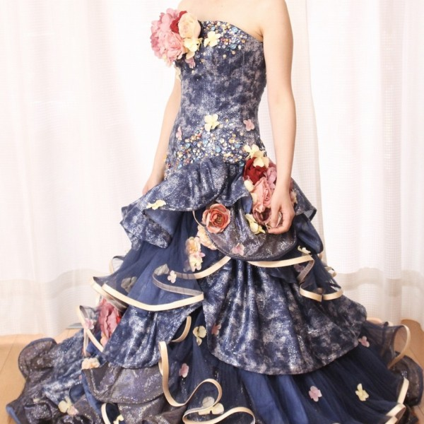 カラードレス ブルー cdb-016