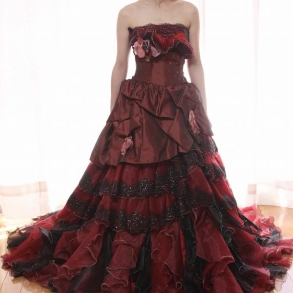 カラードレス ワインレッド cdw-023